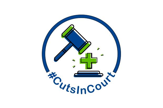 C+D's #CutsInCourt coverage logo