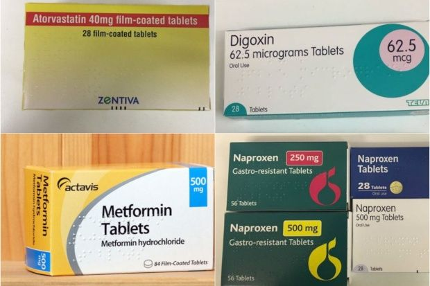 Atorvastatin, digoxin, metformin and NSAIDs all have diarrhoea as a possible side effect
