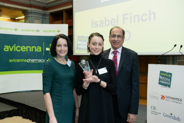 Isabel Finch (centre) was praised for her investigation into alleged pharmacy fraud
