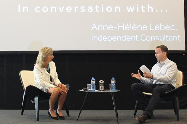 James Waldron interviewed Anne-Hélène Lebec at the PharmacyForum conference on June 12