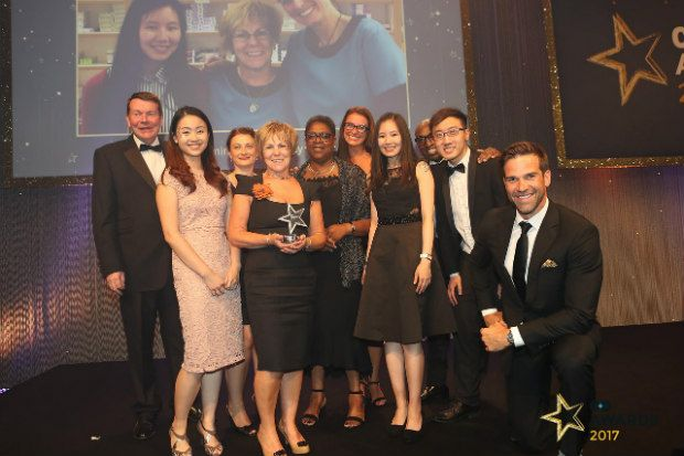 The Bedminster Pharmacy team collecting their C+D Award at the 2017 ceremony