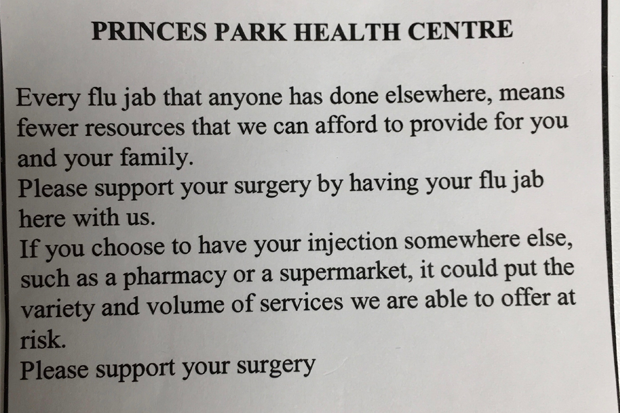 The notice was passed to C+D by a concerned patient