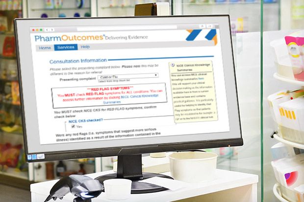Patients will be referred to a participating pharmacy via PharmOutcomes