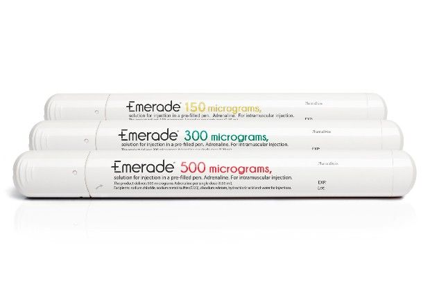 Emerade is the only adrenaline auto-injector device available in 500mcg strength