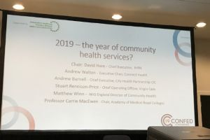 The panel spoke on the importance of community-based healthcare in the NHS