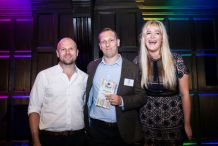 James Waldron with BSME awards hosts in London last night (Credit: BSME)