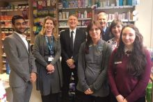 NHS England's Dr Bruce Warner (centre) heard about the service during a pharmacy visit. Credit: Community Pharmacy North Yorkshire