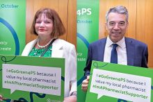 Julie Cooper and Jeff Smith pledged their support for the #GoGreen4PS campaign at Monday's event (Credit: Brendan Foster Photography)