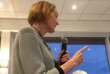 PSNC's Sue Sharpe was among attendees addressing the panel event