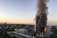 The fire at Grenfell Tower started in the early hours of Wednesday morning