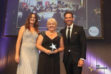 Tees LPC chief officer Sandie Hall collects the C+D Training and Development Award