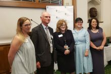 (Left to right): Vicki Nash, Mind; Peter Pratt, NHS England; Sandra Gidley, RPS; Jackie Doyle-Price MP; and Paula Sherriff MP