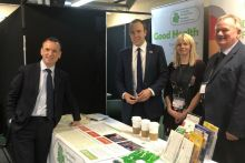 Left to right: Secretary of state for Wales Alun Cairns, Matt Hancock, CPW director of contractor services Judy Thomas, CPW chief executive Russell Goodway