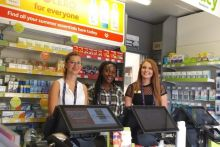 Pharmacist Federica Franco (left) with two of her Lloydspharmacy staff